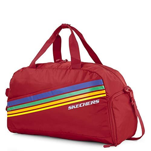 SKECHERS - Sporttas. Sporttas met verstelbare schouderband. Canvas tas. Praktisch, veelzijdig, lichtgewicht en comfortabel. S913, Color Intensif rood