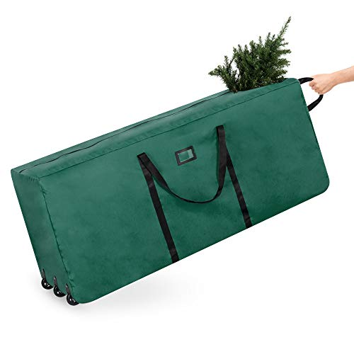 Best Choice Products Rolling Duffle Holiday Decoration Storage Bag for 9ft Christmas Tree w/Wheels, Handle - Green