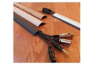 """ChordSavers Chordsaver Small Floor Cord Cover Wooden Finish Wire Cable Protector - Wood Grain #1-36"""" (3 Feet)"""
