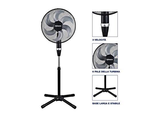 Termozeta Windzeta Force ventilatore Nero