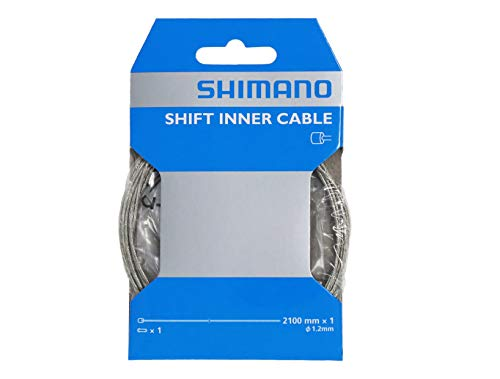 2 Pcs Shimano Standard Zinc-coated Derailleur Cable Shift Cable(1.2x2100-mm)