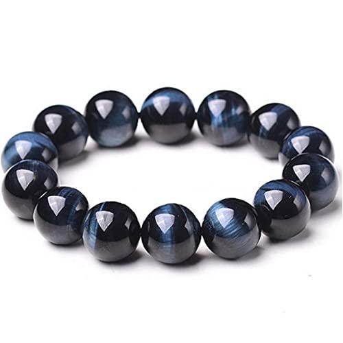 Pulseras de Piedras Preciosas con Cuentas 8mm Piedra Natural Lava Pulsera Roca Azul Tigre Ojo Pulsera Boho joyería para Hombres y Mujeres
