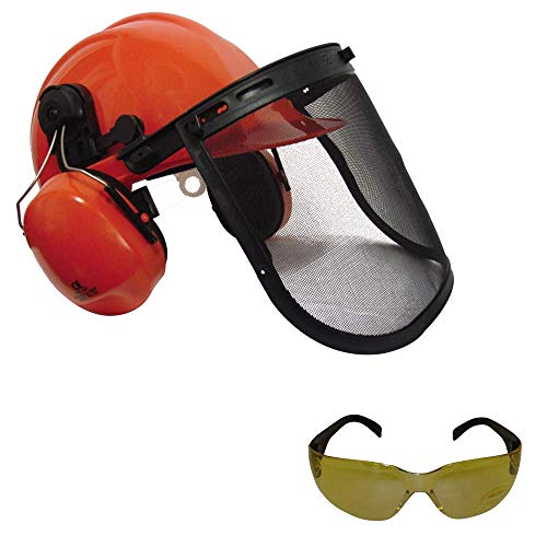 RocwooD Chainsaw Safety Helmet With Ear Defenders & Mesh...