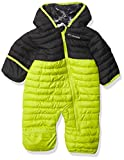 Columbia Baby Girls Powder Lite Reversible Bunting, Bright Chartreuse/Black, 3-6 Months