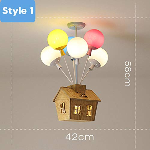 Deckenlampe Deckenbeleuchtung Deckenstrahler Wandspots Nordic Bunte Luftballons Pendelleuchten Deckenleuchten Kinder Individualität Hängelampen Kinderzimmer Dekoration Leuchte-A_6Heads