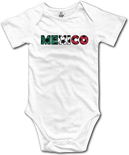 WlQshop Mono para Bebé,Mameluco Bebé Unisex Mexico Soccer Flag Ball Newborn Baby Girl Clothes Short Sleeve Infant Cotton Bodiess