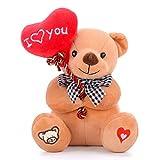 Gloveleya I Love You Stuffed Bear with Heart 7'
