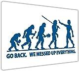 Evolución azul de la cita divertida de la humanidad Impresiones de la cima de la pared. Imágenes de arte de la pared Charles Darwin Cartel enmarcado Tamaño: A2-24 'X 16' (60CM X 40CM