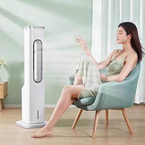 MGCD Tower Desk Ventilador Sin Cuchillas con Tanque Agua Refrigeración 4L 1M Alto 3 Velocidades Viento Ventilador Sin Hojas para El Dormitorio Oficina Suministro