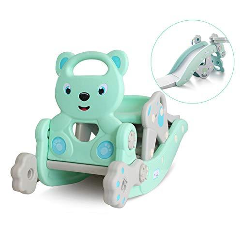 Bebé Mecedora Tobogán Silla Tobogán Combinación 2 En 1 Adecuada para El Juego De Juguetes para Niños En El Interior del Hogar para Bebés,Azul