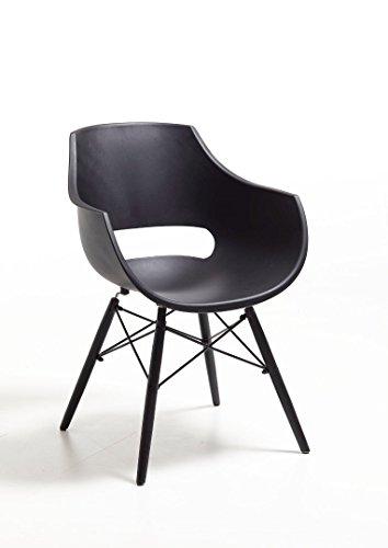 Bodahl Møbler ApS Stuhl Sessel Kunststoff schwarz modern Set 4 Stück Besprechung Wartezimmer