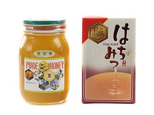 百花蜜(ひゃっかみつ)600g 化粧箱入り(百花蜂蜜、百花はちみつ ヒャッカミツ)北海道産ハチミツ