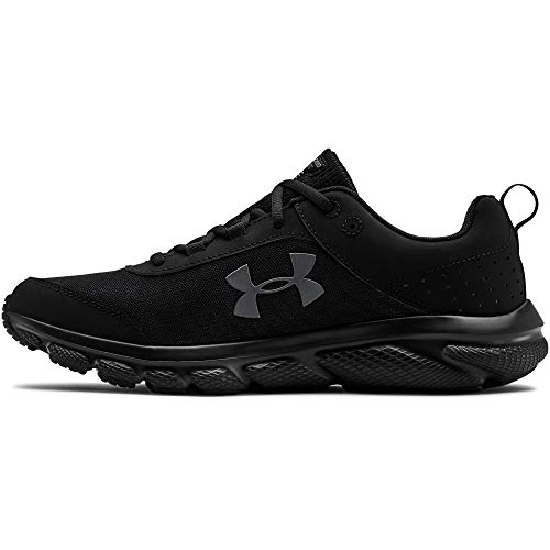 Under Armour mens Charged Assert 8 Running Shoe, Black/Black, 9 US