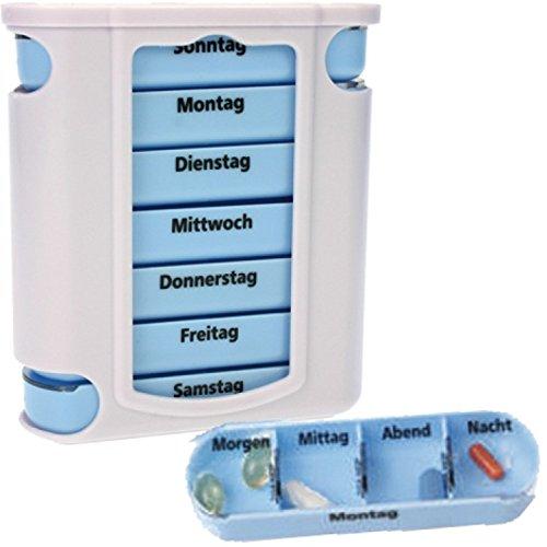 Preisvergleich Produktbild Osma-Werm 17384 Pillendose 7 Tage Pillenbox Tablettendose Tablettenbox Tower