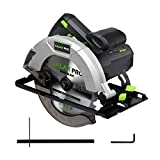 """Circular Saw, GALAX PRO 14A 5500RPM 7-1/4"""" Corded Circular Saw with Lightweight Lower Guard, 2Pcs Blades (24T+48T) plus 1 Allen Wrench, Max Cutting Depth 2-7/16""""(90°), 1-13/16""""(45°)"""
