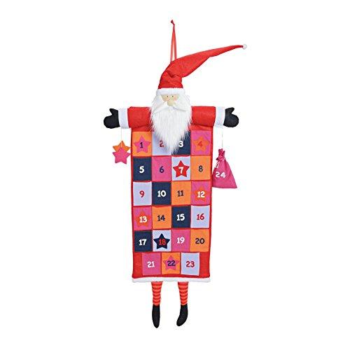 SSITG Adventskalender Selbst Befüllen Nikolaus Textil 58x120cm Kalender Weihnachtsmann(Lieferzeit ist 3-7 Tagen)
