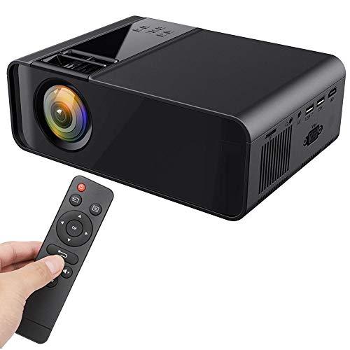 Sorand Mini 3D Projektor, Video Beamer 1280 * 720 Videoprojektor 4000 Lumens 1080P HD Multimedia LED 30000 Stunden Heimkino und Fußball Spiel Spaß Kompatibel mit HDMI/VGA/USB/AV - Schwarz(EU-Stecker)