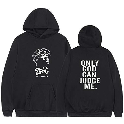 TAPESTRYDA Gangsta Rap 2Pac 3D Neue Hoodie Sweatshirt Mit Kapuze Herren/Damen Hoody Pullover Wintermütze Trainingsanzüge-L