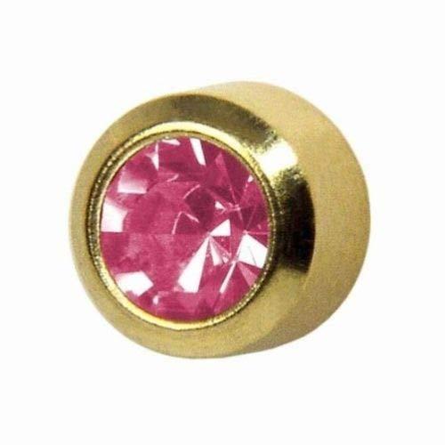 Studex Octobre/Rose Mini 2mm Or Plaqué Lunette Réglage Oreille Piercing Boucles D'oreilles Pierre de Naissance