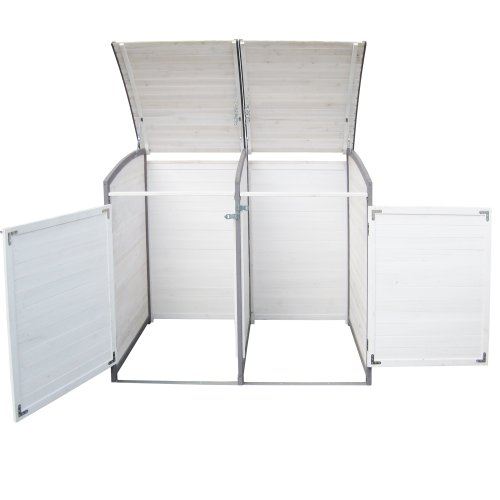 Habau 3140 Mülltonnenbox 120 Liter Doppel, 122 x 76 x 116 cm - 3