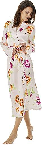Jadee Vestaglia Donna 100% Seta - Pink Roses - M