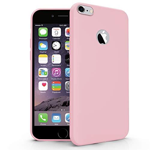 N NEWTOP Cover Compatibile per Apple iPhone 6 e 6S, Custodia TPU Soft Gel Silicone Ultra Slim Sottile Flessibile Case Posteriore Protettiva (Rosa)