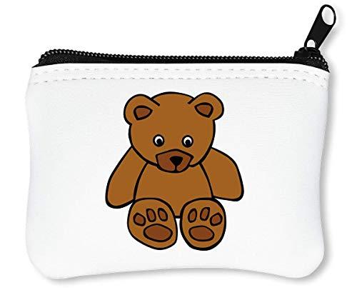 Teddy Cute Reißverschluss-Geldbörse Brieftasche Geldbörse