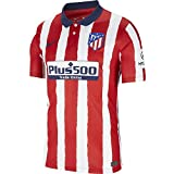 NIKE ATM M NK BRT Stad JSY SS Hm T-Shirt, Hombre, Sport Red/Midnight Navy Full...