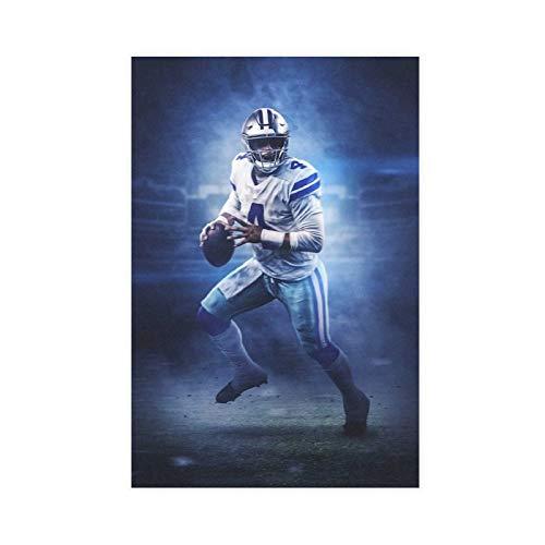 Sports Poster Football Player Dak Prescott Dallas Cowboys Canvas Poster Bedroom Decor Sports Landscape Office Room Decor Gift 16×24inch(40×60cm) Unframe-style1