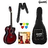 Ketostics Givson Venus Special Guitar (RED) VS-RD, Acoustic Guitar With Guitar bag,belt, string set and 5 picks
