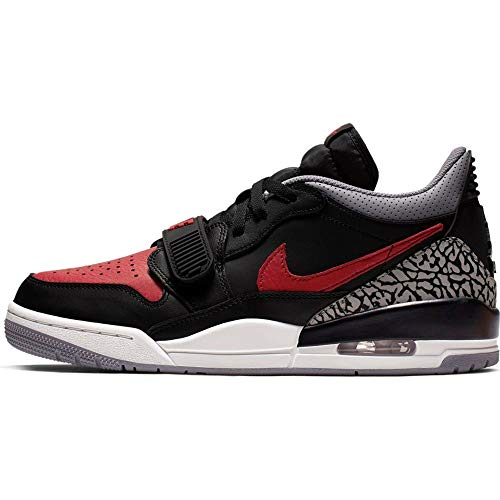 Jordan Mens Air Jordan Legacy 312 Hight Top Lace Up Basketball Shoes, Black / Varsity Red-black-cement Grey, 10.5