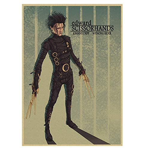 Simayi Classic Edward Mani di Forbice Movie Poster Vintage Canvas Poster Bar Home Decoration Wall Stickers 50X70Cm (Jn0358)