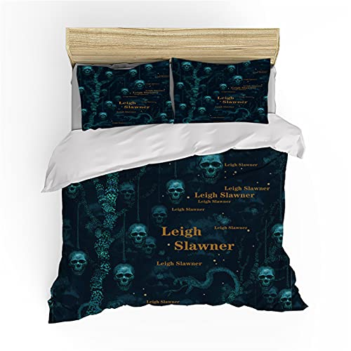 Duvet Cover, Bedding Queen Size Skull Duvet Covers, Comfortable Breathable Zipper Opening And Closing Cotton Duvet Cover, Used For Boy Bedroom, Customizable,B,King