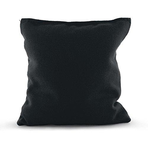 Tailor Spot Empty Cornhole Bean Bags (Set of 4) Standard ACA/ACO Regulation 25+ Colors (Black)