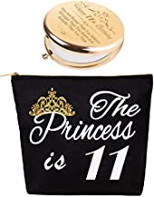 Gifts for 11 Year Old Girls,11th Birthday,11th Birthday Decorations for Girls,11 Year Old Girl Birthday Gifts,Birthday Gift for 11 Year Old Girl,11th Birthday Makeup Bag & Mirror,11 Happy Birthday