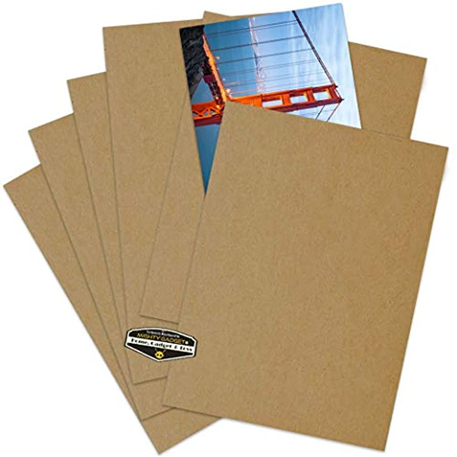200 Pack of Mighty Gadget (R) 8.5x11 Chipboard Cardboard Craft Scrapbook Material Scrapbooking Packaging Sheets Shipping Pads Inserts 8 1/2 inch x 11 inch Chip Board (Kraft Color)