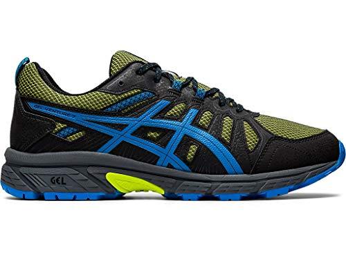 ASICS Men's Gel-Venture 7 Trail Running Shoes, 11, NEON Lime/Directoire Blue