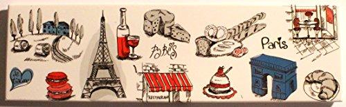 AKER MGG7 Magnet Aimant frigo Cuisine Souvenir France Paris Cadeaux 17X5cm