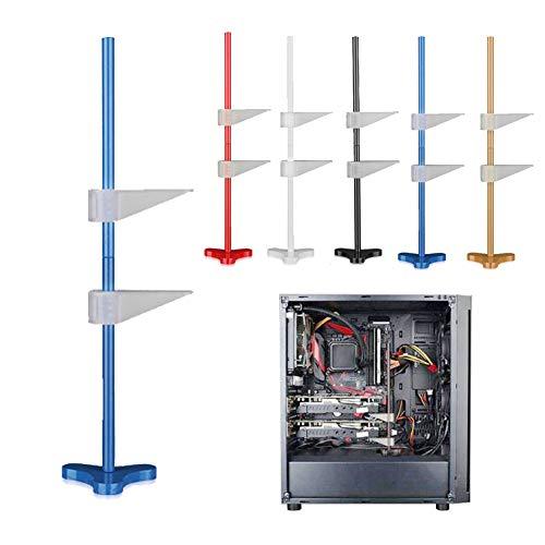 2ST GPU-Support-Halter, Metall VGA-Grafikkarte Ständer Kopfhörer Bracket Desktop-Computer-Videokarte Brace-Rahmenunterstützung,Blau