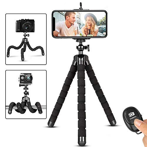 Phone Tripod, Flexible iPhone Tripod and Portable Adjustable Tripod...