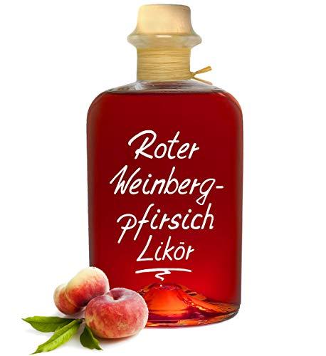 Roter Weinbergpfirsich Likör 0,5L saftig aromatisch & lecker! 18% Vol