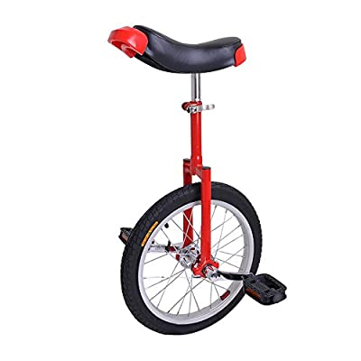 "AW 16"" Inch Wheel Unicycle Leakproof Butyl Tire Wheel Cycling Outdoor Sports Fitness Exercise Health Red"