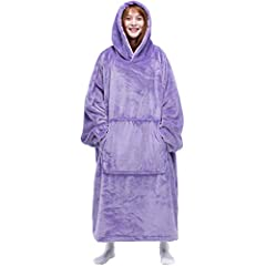 FLUFFY HOODED BLANKET: This is a true oversized hoodie blanket for women and men. It is designed for customers looking for softness. Cozy and warm, a must have for enjoying happy hours. It is perfect for lounging at home, watching TV, gaming, reading...