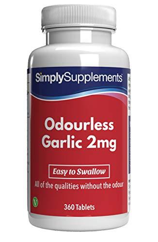 Aglio inodore 2 mg - 360 Compresse - 1 anno di trattamento - Simply Supplements