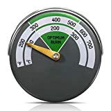 Magnetic Stove Thermometer Wood Burning Stoves Top Temperature Meter Stove Flue Pipe Thermometer Fireplace Accessories for Protecting Stove Fan (1)