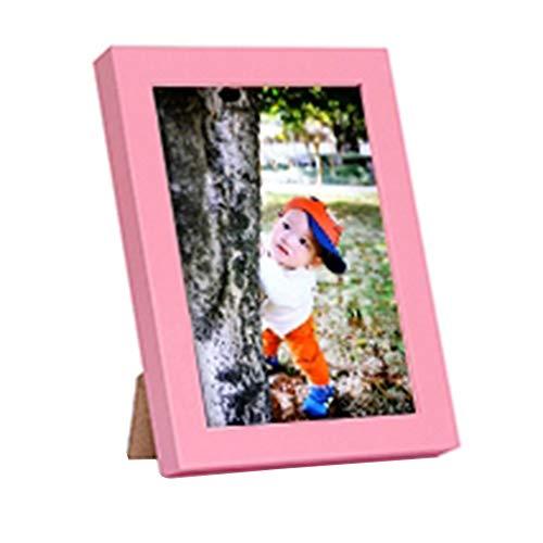 5 inch creatieve kinderen IKEA fotolijst fotolijst, kantoor aan huis decoraties desktop muur opknoping display verjaardag huwelijkscadeau,Pink
