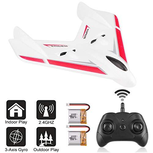 Avión Teledirigido: RC Plane FX601, 2,4 GHz, 2 canales, control remoto de 2 canales, giroscopio de 3 ejes, listo para volar, para principiantes, niños y niños
