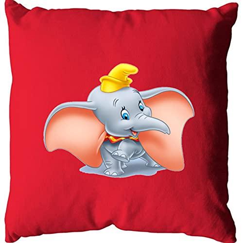Funda de cojín rojo Suedine Sublimation de algodón, Dumbo 1, fabricada en Francia, marca O S I R I S I S I S