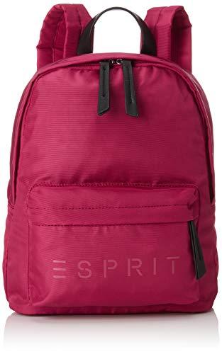 Esprit Accessoires Damen 088ea1o051 Rucksack, Pink (Dark Pink), 12x32x26 cm