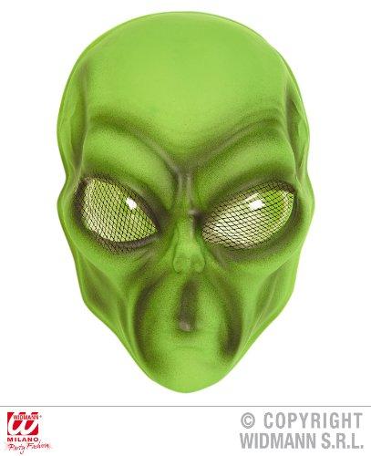 Widmann-WDM2689V Maske für Erwachsene, für Herren, Grün/Gelb, WDM2689V